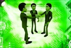 3d men making commitment illustration Stock Photo