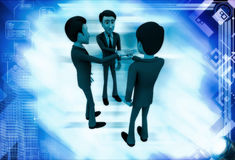 3d men making commitment illustration Royalty Free Stock Photography