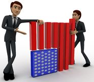 3d men making flag of united states of america concept Royalty Free Stock Photos