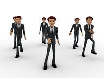 3d men marching concept Royalty Free Stock Photos