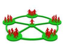 3d men network social people connection teamwork Stock Photos