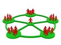 3d men network social people connection teamwork. 3d render Stock Photos