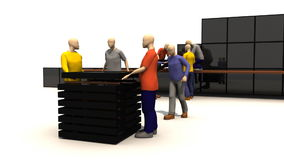 3D men presenting families Royalty Free Stock Images
