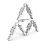 3D men pyramid isolated on white background. 3d render illustration Vector Illustration