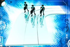 3d men on race track illustration Stock Image