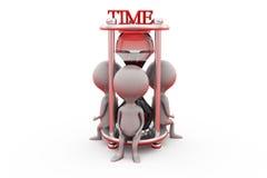 3d 3d sand clock concept Stock Photo