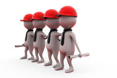 3d men team of builders concept Royalty Free Stock Photos
