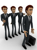 3d men team select person for work concept Stock Photography