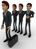 3d men team select person for work concept Stock Image