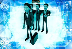 3d men team select person for work illustration Royalty Free Stock Images