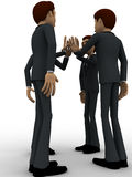 3d men tossing hands concept Royalty Free Stock Photo