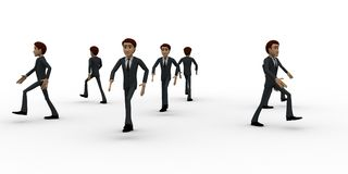 3d men walking in all directions concept Royalty Free Stock Photography