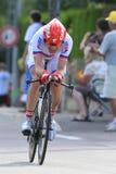 D.MENCHOV (KAT - RUS). During the 9 stage of the Tour de France, Arc et Senans-Besançon, July 9 2012 Royalty Free Stock Photo