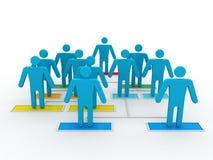 3d mening van het bedrijfsmensenperspectief van organisatorische grafiek Stock Foto