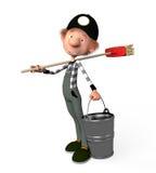 3d menino working.cleaner. ilustração stock
