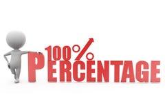 3d mens 100% concept Royalty-vrije Stock Afbeeldingen