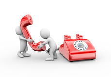 3d mens die op telefoon spreken Royalty-vrije Stock Fotografie
