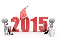 3d mens 2015 het schoonmaken concept Stock Foto's