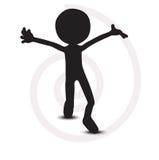 3d mens met open handen Stock Afbeelding