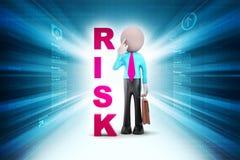3d mens met risico royalty-vrije illustratie