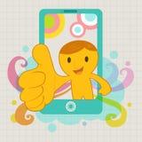 3d mens met slimme telefoon Royalty-vrije Stock Fotografie