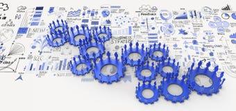 3d menselijk toestel aan succes als concept stock illustratie