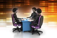3d mensen in commerciële vergadering Royalty-vrije Stock Afbeeldingen