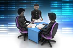 3d mensen in commerciële vergadering Stock Foto