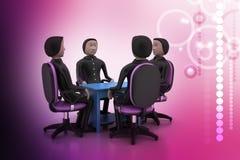 3d mensen in commerciële vergadering Royalty-vrije Stock Foto's