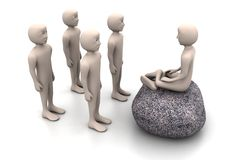3d mensen in meditatie Royalty-vrije Stock Afbeeldingen