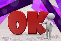 3d mensen o.k. illustratie Stock Fotografie