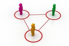 3d mensen schikken een netwerk Royalty-vrije Stock Afbeeldingen