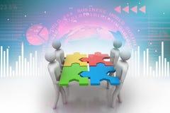 3d mensen - team Royalty-vrije Stock Afbeelding