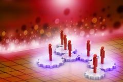 3d mensen in toestel, het concept van het teamwerk Stock Afbeeldingen