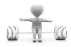 3d mensenzitting op gewichtsconcept Stock Afbeelding