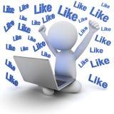3d mensenzitting op witte grond en laptop computer op zijn overlapping over witte achtergrond met velen houdt tekst van woorden stock illustratie