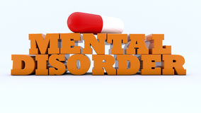 3d mental disorders. And capsule Royalty Free Stock Photos