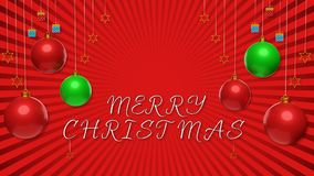 3d merry christmas greetings card Royalty Free Stock Photos