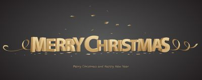 3D Merry Christmas Royalty Free Stock Photo