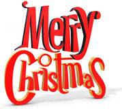 3d Merry Christmas text royalty free illustration
