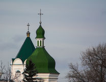 Dômes d'église orthodoxe Image stock