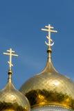 Dômes d'or d'église de Shipka, Bulgarie Images stock