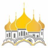 Dômes d'or de la Russie Photos stock