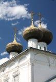 Dômes de l'église russe, Ustuzhna Images libres de droits