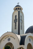 Dômes de l'église de St Vissarion de Smolyan dans Smolyan en Bulgarie Photo libre de droits