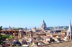 Dômes de Rome et de Vatican, Italie Photographie stock