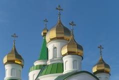 Dômes de temple orthodoxe Image libre de droits