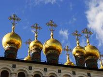 Dômes des églises de Terem, Moscou Kremlin, Russie photographie stock