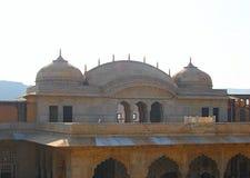 Dômes en Amer Fort, Jaipur, Ràjasthàn, Inde Images stock