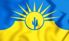 3D Mesa亚利桑那,美国旗子  皇族释放例证